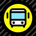 bus, bus station, transport, transportation icon