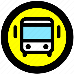 bus, bus station, transport, transportation icon