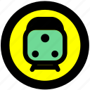 train, train station, transport, transportation, travel icon