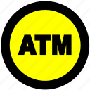 atm, atm location, bank, cash icon