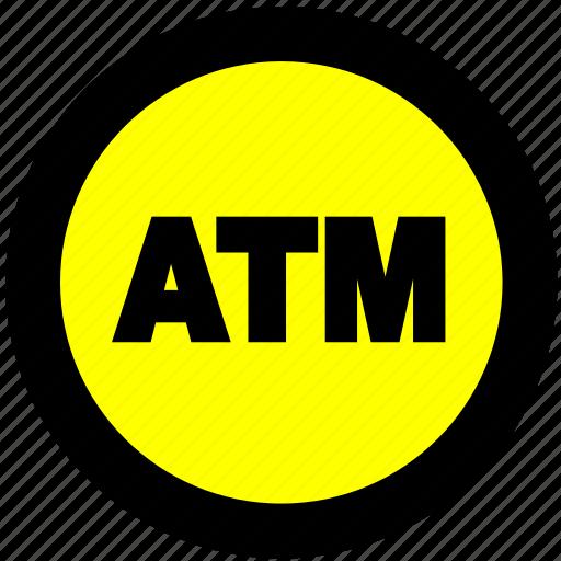 atm, atm location, bank, cash icon