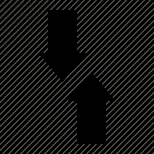 arrow, exchange, oppositedirection, road, street icon