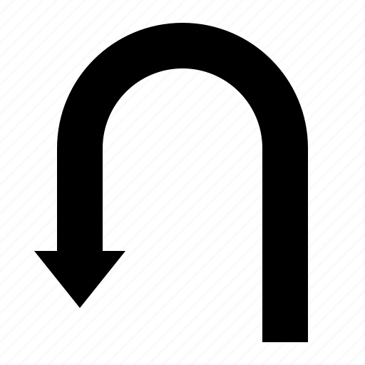 around, arrow, left, turn around, turnleft icon
