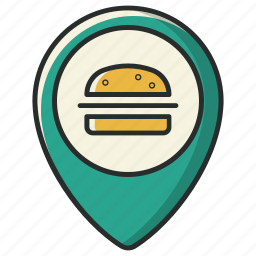 food, location, map, navigation, pin, poi, restaurant icon