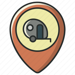 camp, camping, location, map, pin, place, pointer icon