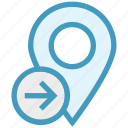 gps, location, location pin, map pin, navigation, pin, right side icon