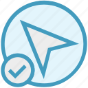 access, arrow, direction, location, marker, navigation, up arrow icon