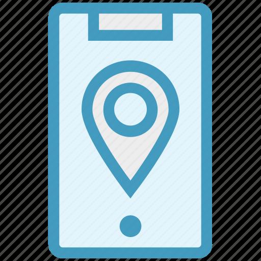 gps, location, location pin, map pin, mobile location, pin, smartphone icon