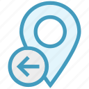 gps, left side, location, location pin, map pin, navigation, pin icon