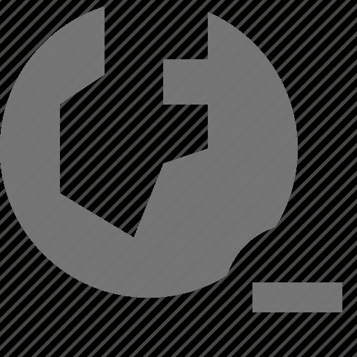 globe, location, minimize, minus, remove, subtract icon