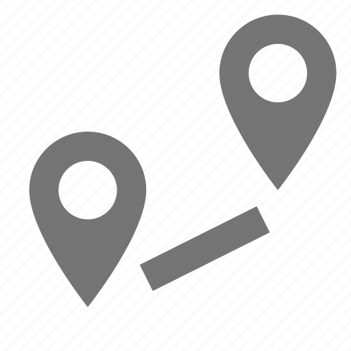 directions, location, navigation, path icon