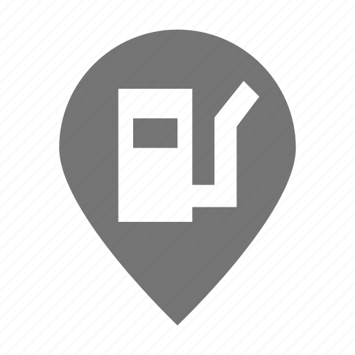 gas, location, petrol, pin, pump icon