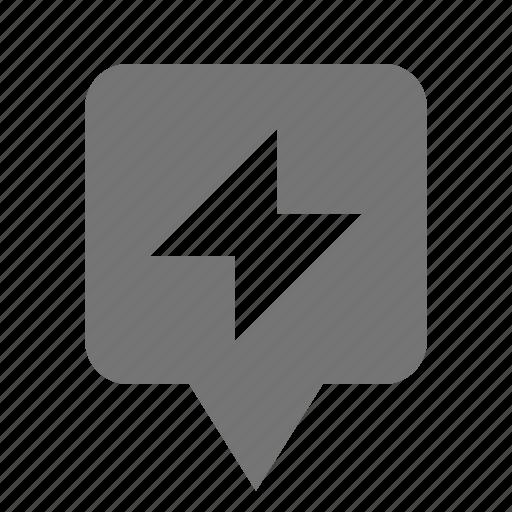 flash, location, pin icon