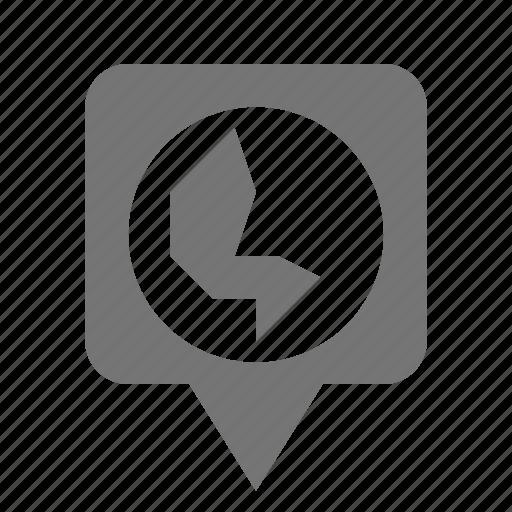 globe, location, pin icon