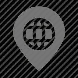 location, network, pin icon