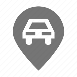 car, location, parking, pin icon
