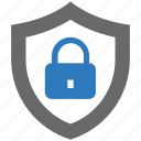 lock, lockdown, protect, security, shield icon