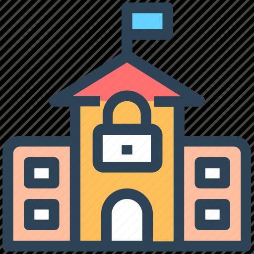 College Lock Lockdown School Secure University Icon