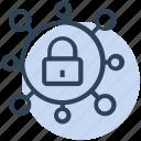 coronavirus, covid19, lock, lockdown, secure icon