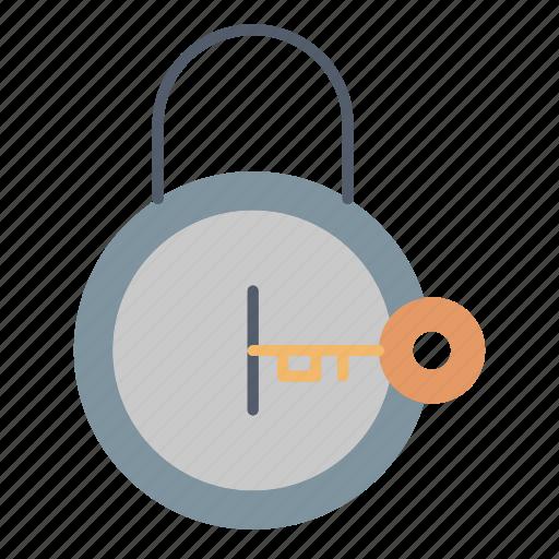 key, lock, opened, protection icon