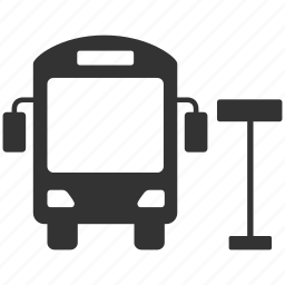 bus, bus stop, station, transport, transportation, travel, vehicle icon