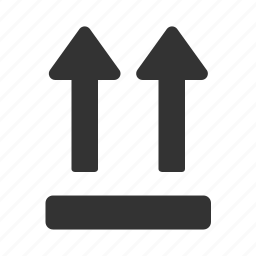 arrow, label, packing, sign, this way up icon