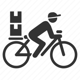 bicycle, logistic, messenger, postman, send, transportation icon