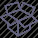box, box2, open box icon