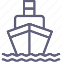 cargo, ship, water icon
