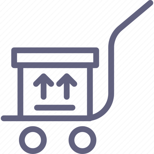 box, goods, trolly icon