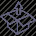 box, up, upbox icon