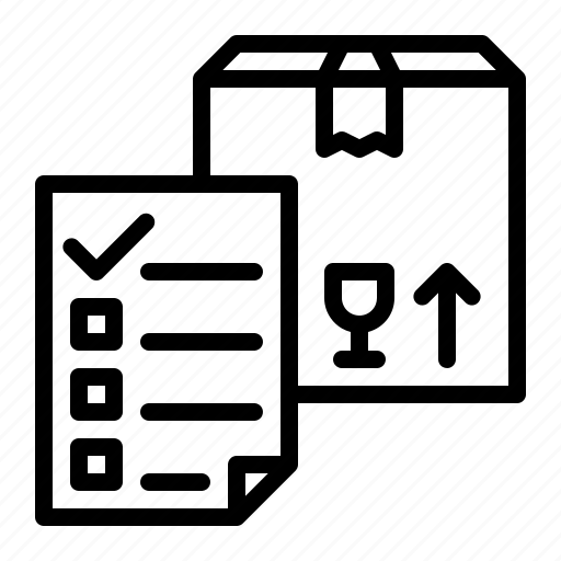 box, checklist, logistic, package icon