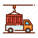 cargo, delivery, distribution, package, service, shipping icon