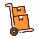 delivery, distribution, loading, package, service, shipping icon