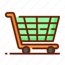 delivery, distribution, package, service, shipping, trolley icon