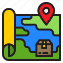 map, location, delivery, logistic, parcel, box
