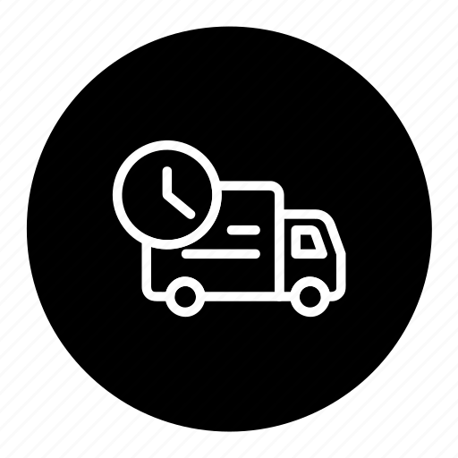 delivery, logistic, shipping, time, transport icon