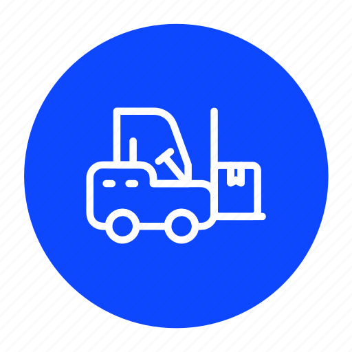 delivery, forklift, logistic, shipping, transport icon