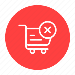 delivery, logistic, order cancel, shipping, transport icon