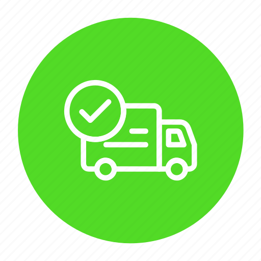 delivery, logistic, order confirm, shipping, transport icon