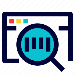 find, logistic, magnifying, search, track, track number, tracking icon