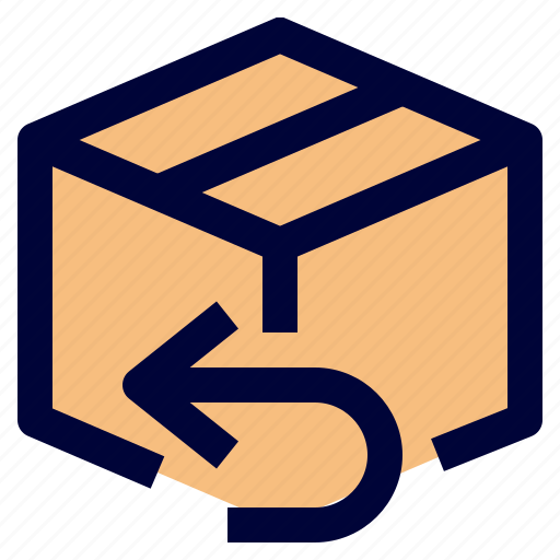 box, delivery, logistic, package, return icon