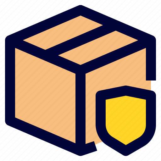 logistic, package, protection, safe, shield icon