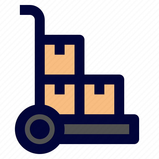 delivery, hand, logistic, shipping, trolley icon