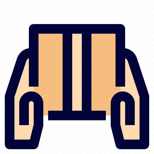 box, courir, delivery, logistic, package icon