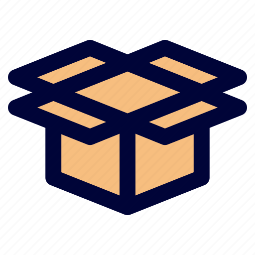 box, logistic, open, package icon