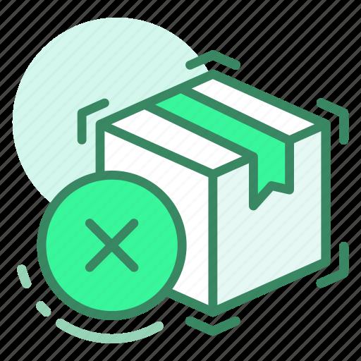 box, cancel, delete, delivery, remove icon