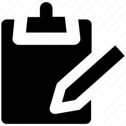 blank sheet, catalogue, clipboard, index, pen, register, schedule icon