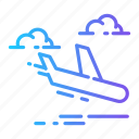 airplane, delivery, flight, transport icon