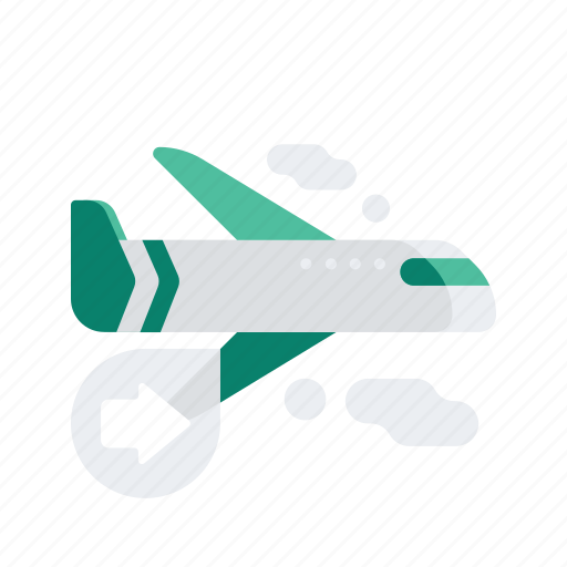 air, airplane, arrow, delivery, logistic, transport, transportation icon